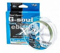 Плетеный шнур YGK G-soul SUPER Jigman x4 200m  №0.8  .