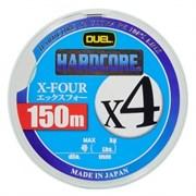 Плетеный шнур DUEL PE HARDCORE H3276Y x4 150m №1,2 Yellow max.9kg