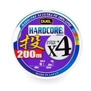 Плетеный шнур DUEL PE HARDCORE H3288 x4 200m №0,8 4Color max.6.4kg