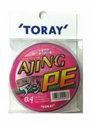 Плетеный шнур Toray AJING PE 150m 6,5Lb