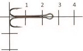 Двойник Saikyo Long Double Hook KH-11040-8