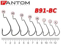Офсетный крючок Fantom B91-1/0-BC Size: 1/0 уп-ка 10 шт